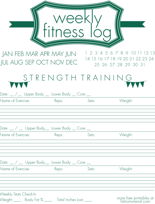 Weekly Fitness Strength